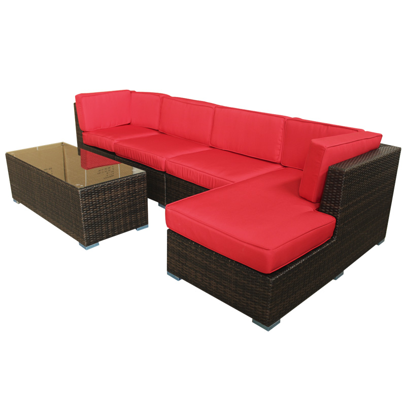 outdoor rattan furniture sofa set